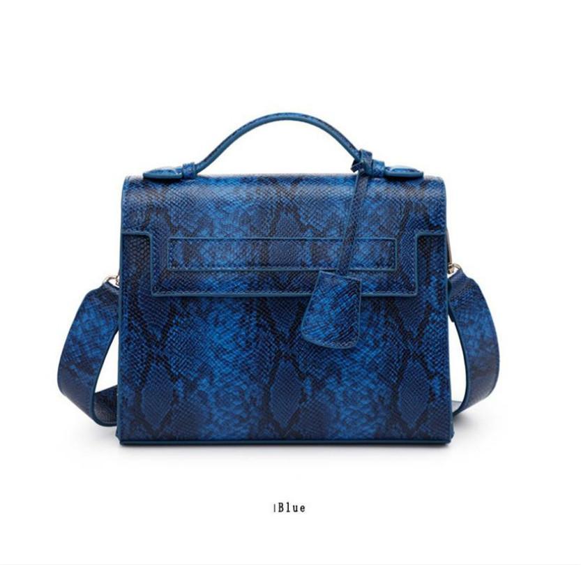 çanta kadın çanta crossbody torbalar Yeni Serpentin desen çanta 2020 yeni basit kova çanta Moda zinciri taşınabilir messenger çanta