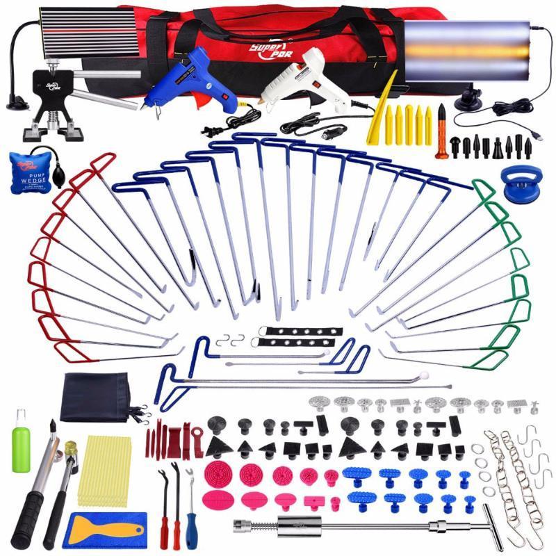 Super PDR Ausbeul Reparatur Dent Entfernungs-Tools PDR Push-Rod-Haken Crowbar Aluminium-LED-Licht-Reflektor Brett Schlagabzieher