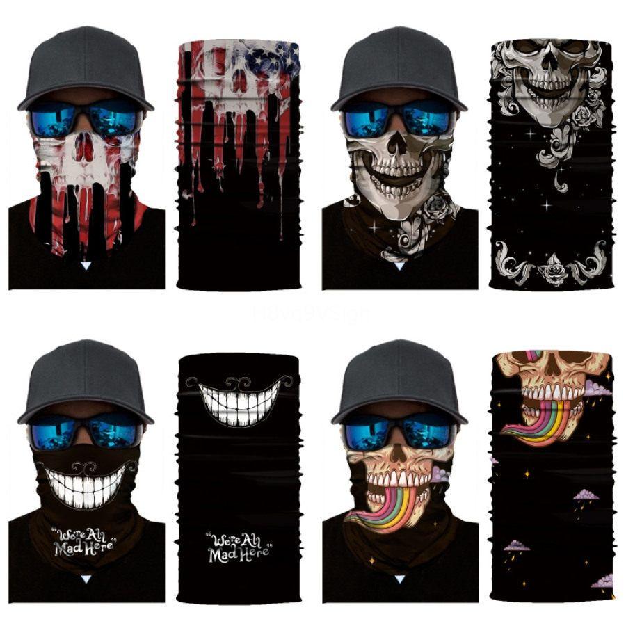 Фильм Venom Аниме Hoodie черепа Бесшовные Балаклава Магия Череп Череп Шарф Heaewear Открытый Спорт банданы Велоспорт Туризм Маска шеи Gaite # 635