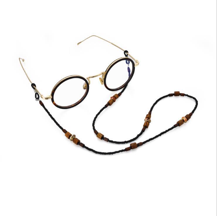 Чехи акриловые деревянные бусины Шнуры Reading Glasses цепи Мода Женские солнцезащитные очки Аксессуары Этнический стиль LANYARD Держите ремни