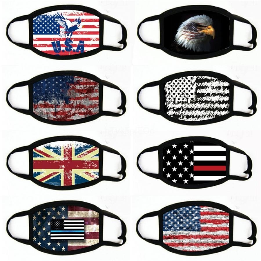 American Flag Tie-Dye Face Mask Face Masks Dustproof And Reusable#763