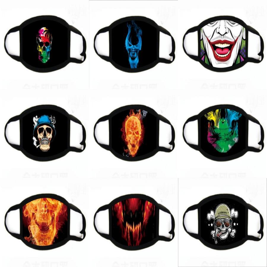 Máscaras I Seda Antipolucion máscaras de impresión Oys niñas de dibujos animados Mout Fa impresión Anti-polvo Reatale Earloop Wasale algodón máscara # 543