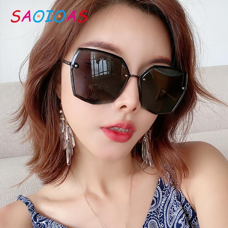 SAOIOAS di marca degli occhiali da sole 2020 nuovo stile grandi della pagina signore metallo in lega di lenti telaio TAC Retro polarizzato Tempo libero occhiali UV400