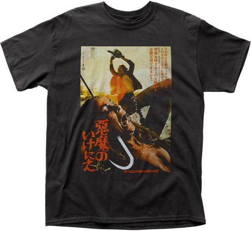 Техасская резня бензопилой Плакат японская футболка S-2XL Новый Impact Товар Хлопок Customize Tee Shirt