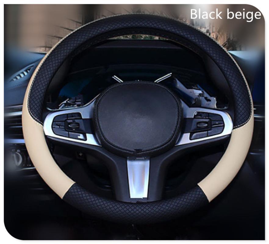 High quality 37-38 cm diameter car parts steering wheel cover for C350e A G500 ML EQA E43 CLA CLA45