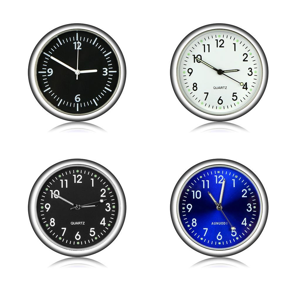 Car Ornament Automotive Auto Clock Guarda Vetture Arredamento Stick-On Clock ornamenti regali di Natale Accessori
