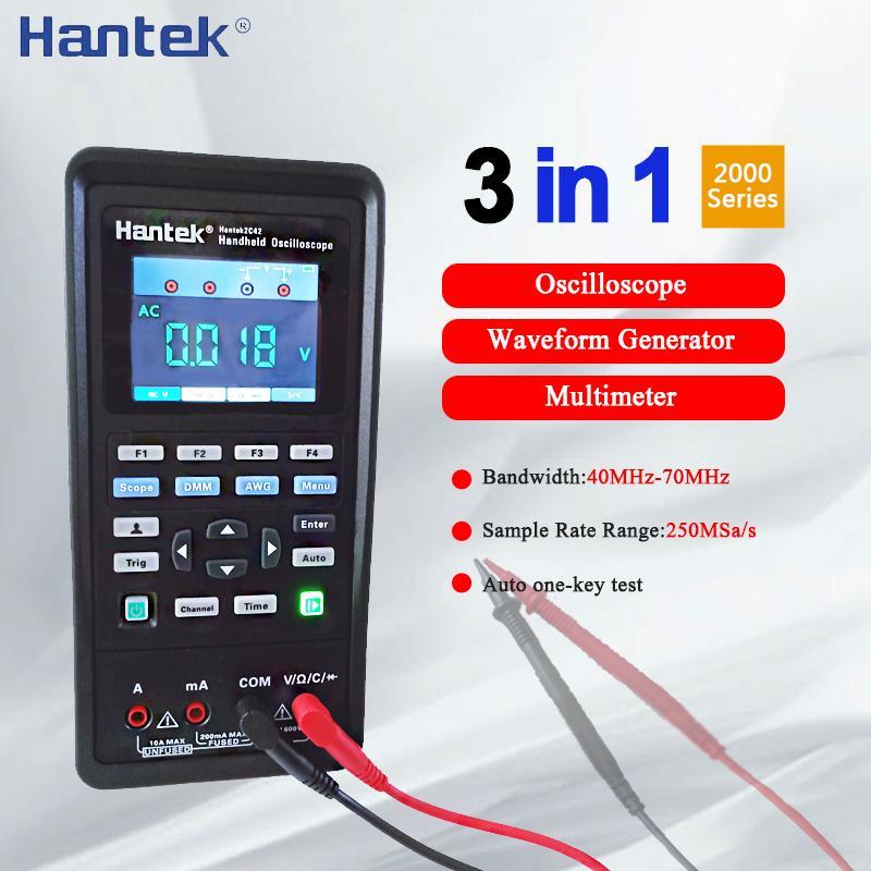 Hantek 2C42 2D42 Oszilloskope Digital-Multimeter Tester osciloscope Signalgenerator 3in1 Portable USB 2Channel 40MHz 70MHz
