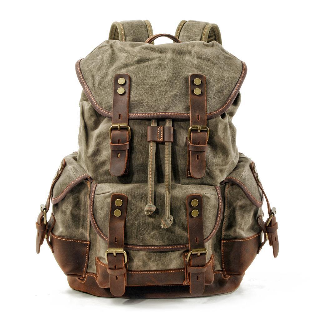 Impermeabile tela cerata zaino Zaini tempo libero Zaino Scuola di viaggio borsa del computer portatile Bagpack Uomini bookbags spalla dell'annata