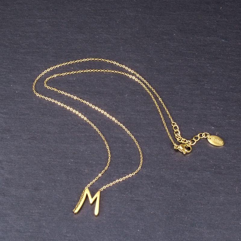 Collana Clavicola Hongcheng Gioielli Trendy INS Sytle lettera scritta a mano M Donne ciondolo placcato oro a catena regalo di compleanno HC196