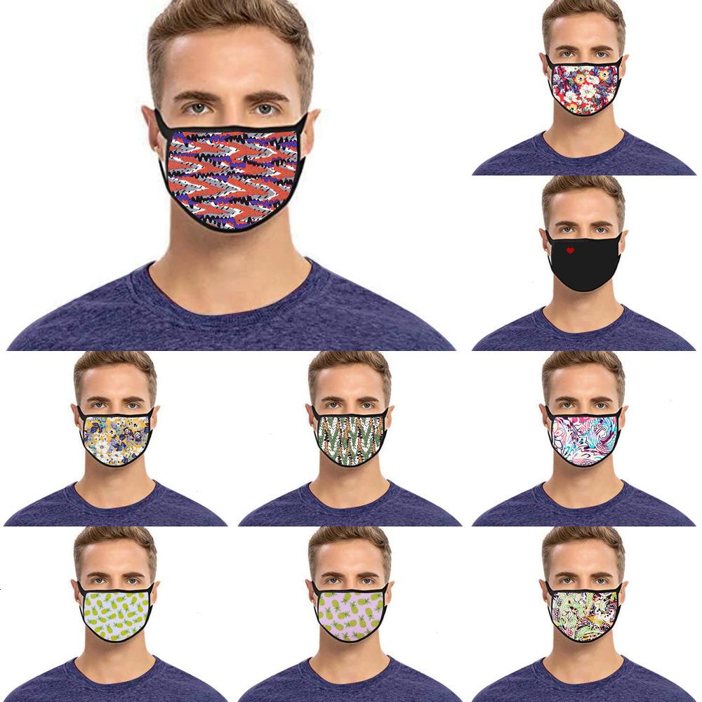H601 bez yetişkin O3VO çocuk Dijital yıkanabilir unisex pamuk toz maskesi 6 baskılı