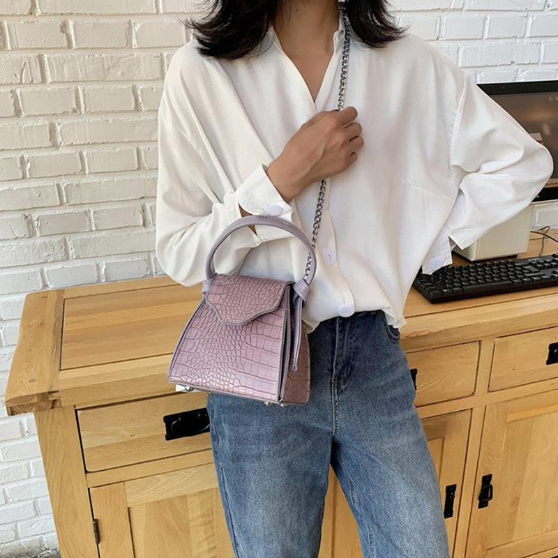2020 pelle nuova di modo casuale delle donne del sacchetto borse di cuoio a tracolla PU borse a spalla casual
