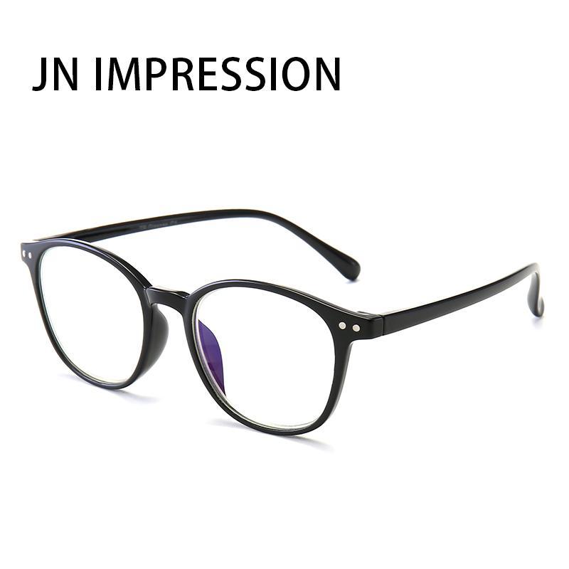 JN TR90 Leg Resina Quadro Anti-Blu-ray óculos de leitura UNISEX prescrição Ultra-light óculos de dioptria + 1.0to + T8049 4.0