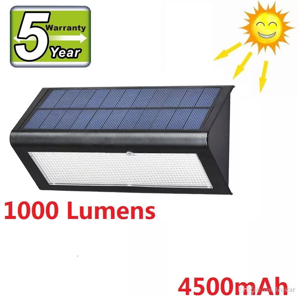 Cgjxs Super Bright 1000 Lumens Radar Capteur solaire de lampe de lumière extérieure Applique murale à LED Lampe de jardin Garantie 5 ans étanche Ip65