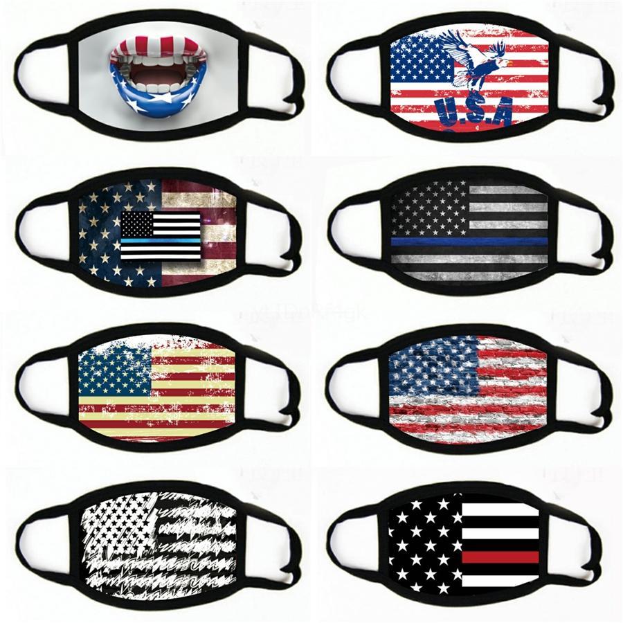 США Флаги Rhinestone маски Мужчины Женщина Мода Bling Маска лето дышащий анти пыль маска Обложка Открытого Защитные Face # 795