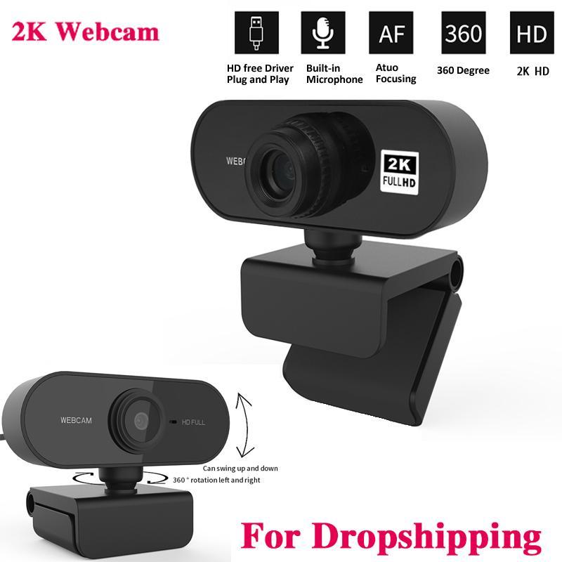 Autofokus 2K HD Webcam Integriertes Mikrofon High-End-Drive-freier Computer-Kamera-Computer-Peripherie-Web-Kamera für PC Laptop
