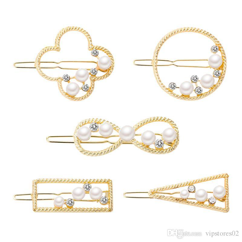 Hot sale Popular Jewelry pearl hair accessories new arrival personality geometric figure headdress sexy cute graph hairpin