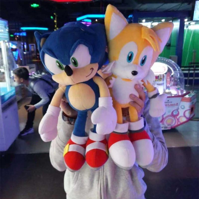 2 Styles 40cm sonic and Miles Prower Tails stuffed toys plush toy dolls A birthday present for your childMX190925