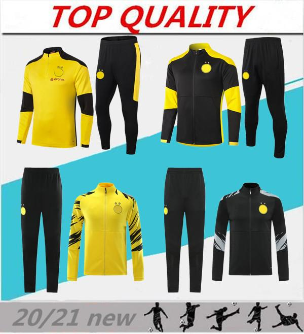 2020 2021 SANCHO Haaland Fußballjacke Langarm Trainingsanzug Trainingsanzug 20/21 survêtement REUS GEFAHR Sportbekleidung Fußballjacke Kit