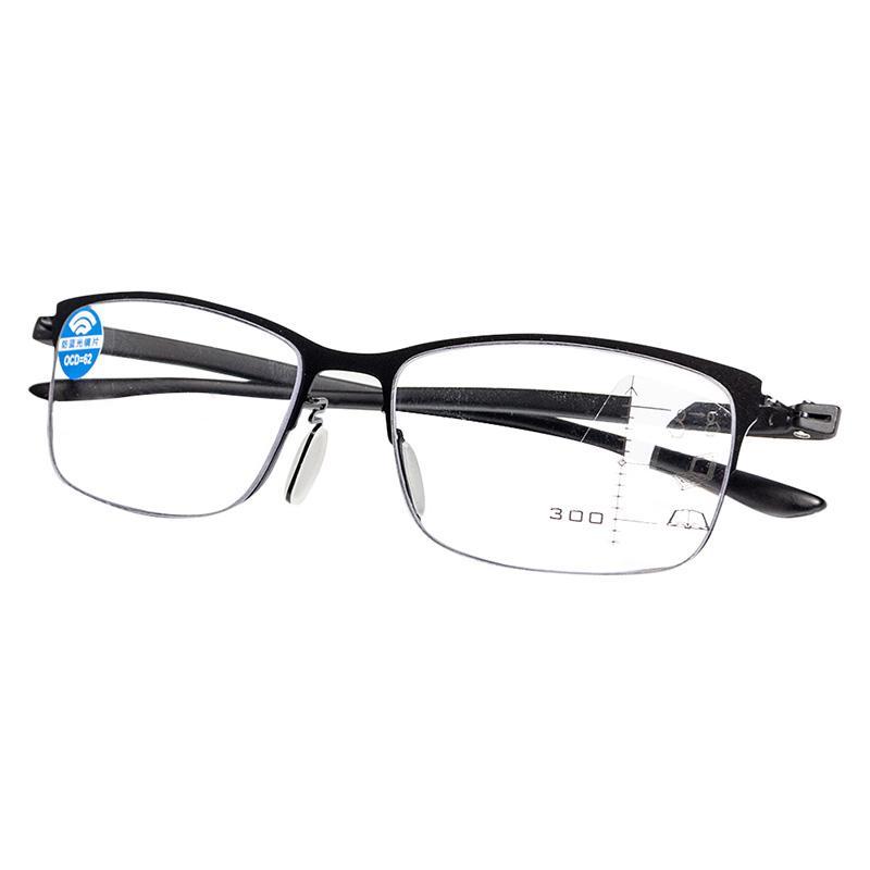 Progressive óculos Multifocal Reading óculos anti homens azuis óculos bifocais dioptria inteligência