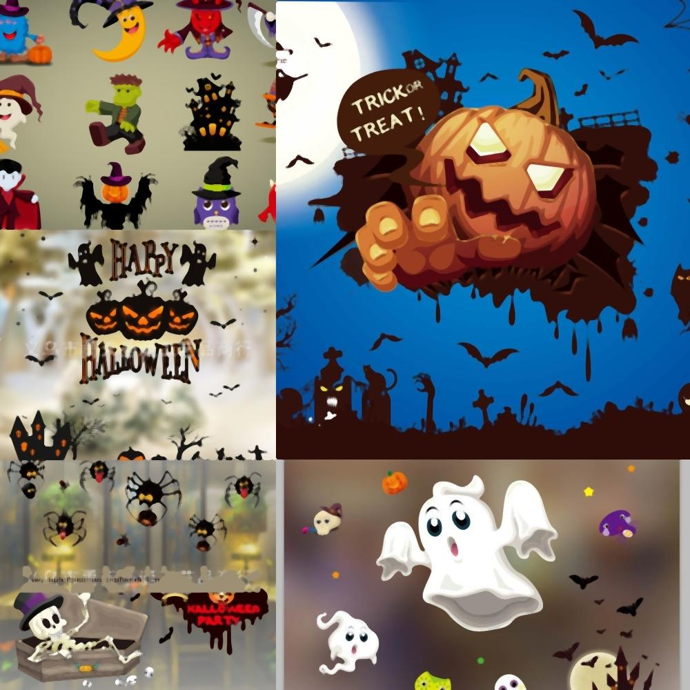 V4B9P Living Et Zombie Creative mur fantôme tailles Halloween Autocollants main Horreur verre Fenêtre LatestPatterns Chambre Chambre Stickers Muraux