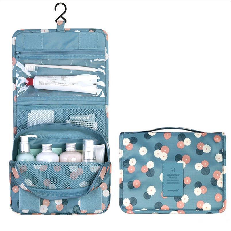 Capacità Travel Make Bag Donne Zipper Cosmetic Up Bag Poliestere High Hanging Storage Organizer Wash Handbag Case Bath Trucco RGJXS