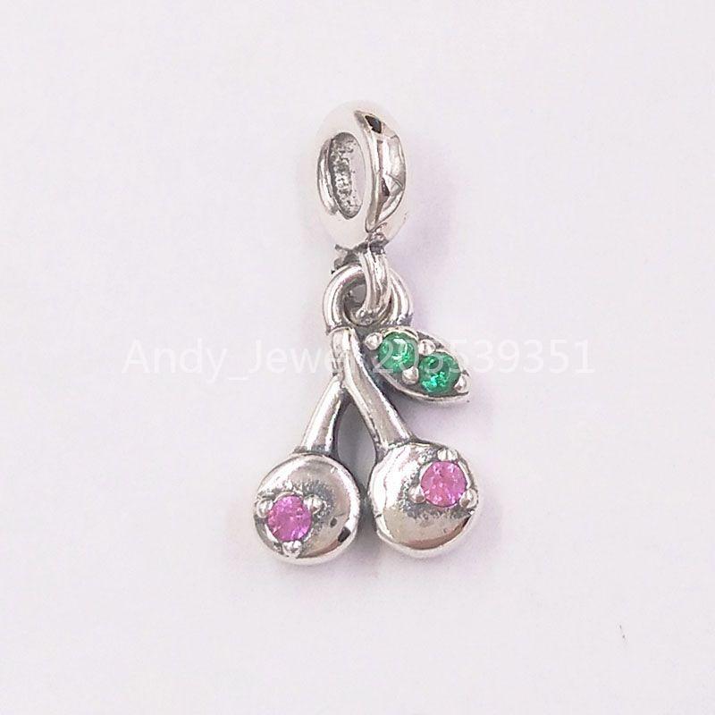 Autentiche 925 perline in argento sterling my ciliegio ciondolo fascino charms adatti collana di braccialetti di gioielli in stile Pandora europeo 798371NCC