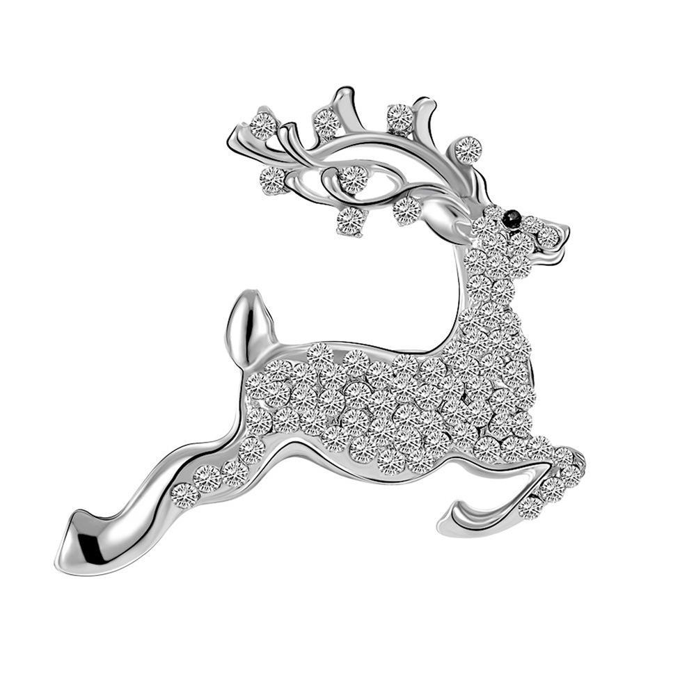 Moda ciervos sika broche de joyería al por mayor de diamantes llena linda decoración cazadora americana y europea regalos de Navidad