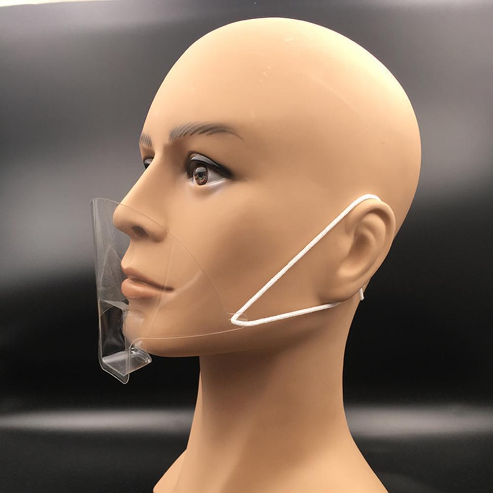 Kapak Otel Mutfak Tedarik Dövme Makyaj 50pcs / Taşınabilir Şeffaf Anti-sis Koru Plastik Maske Aksesuarlar Ağız Tükürük Xvaxe kutusu