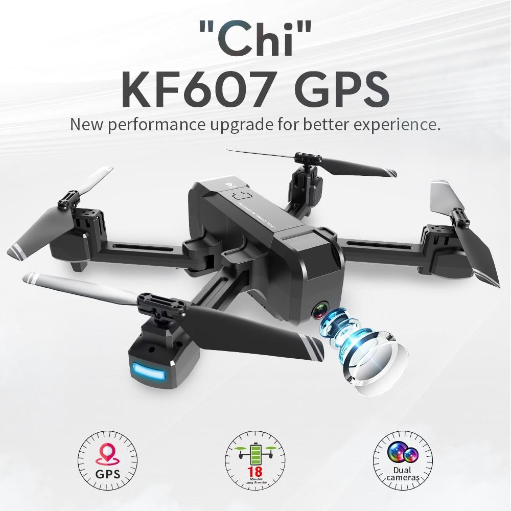 KF607 WIFI FPV GPS RC Drone Quadcopter 4k / 1080P HD Kamera Bir anahtar Dönüş Profissional RC helikopteri ile