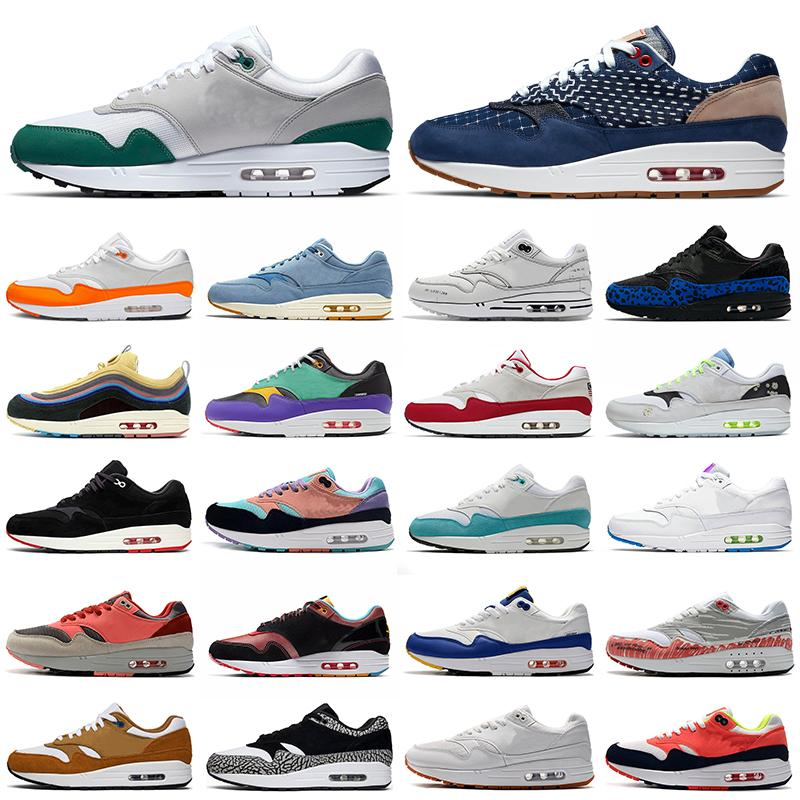 Sean Wotherspoon 1 87 Mens running shoes Blue Void Obsidian 4th of July Magma Orange 1s 87s men women trainers outdoor sports sneakers