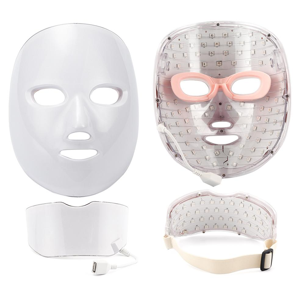 7 Colors Light Led Facial Mask Photon Therapy Face Mask Beauty Machine Anti Acne Wrinkle Whitening Spot Removal Skin Care ToolsR