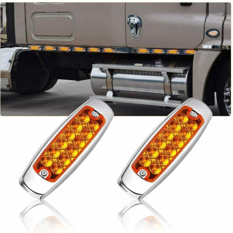 10pcs Lights Side Marker Amber Clearance For Heavy Truck Pickups Lorry