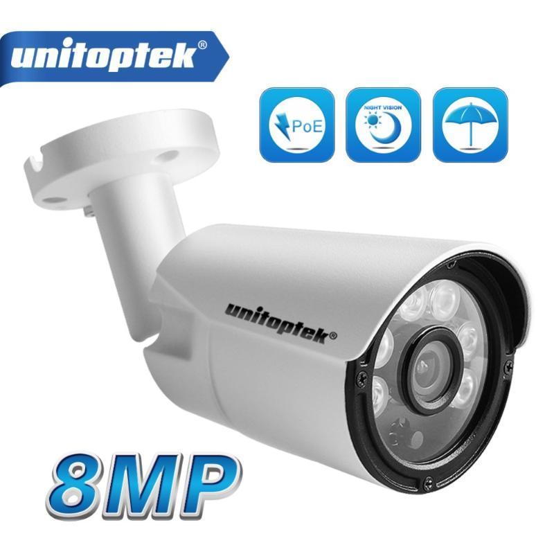H.265 HD 8MP 3840*2160 / 5MP Outdoor IP Camera 4K Mini Network Security CCTV Camera Onvif IR 20m IP Cam 48V PoE Optional