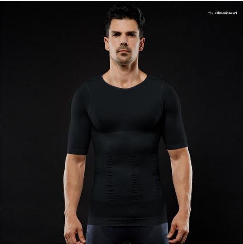 Мужские Роскошные дизайнерские футболки 2020 Tight Body Tuck Up препояшь Тонкий Мужские Бодибилдинг дышащих