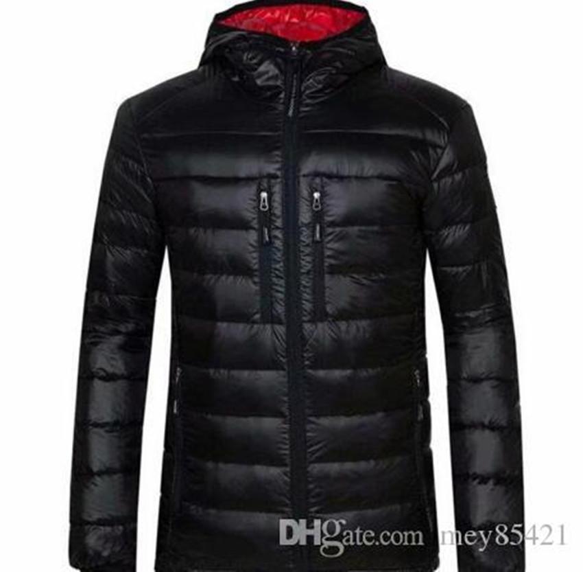 Livraison Gratuite Nouvelle Fashion Canadian Fashion Mince Sports Sports Tenue 100% Goose High Coton Veste Marque Casual Warm Coat Quality Feggj