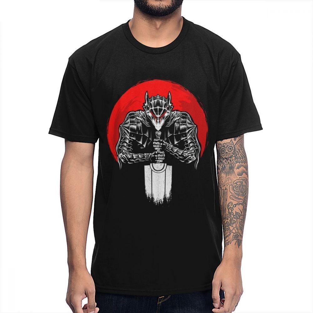 Nero Spadaccino Guts Berserk giapponese manga maglietta 2020 il nuovo disegno Tee Shirt Summer Slim Fit T-shirt