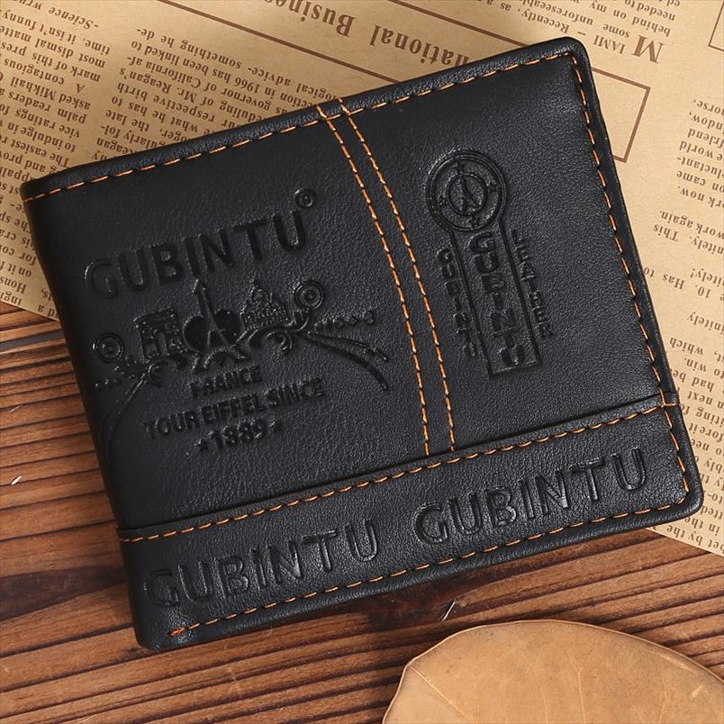 Wallets Wallet Black Pu Leather Purse Bag Men Money Clip Card Organizer Masculina 2019 Money Carteira Men For Concise Photo Bit Imtev