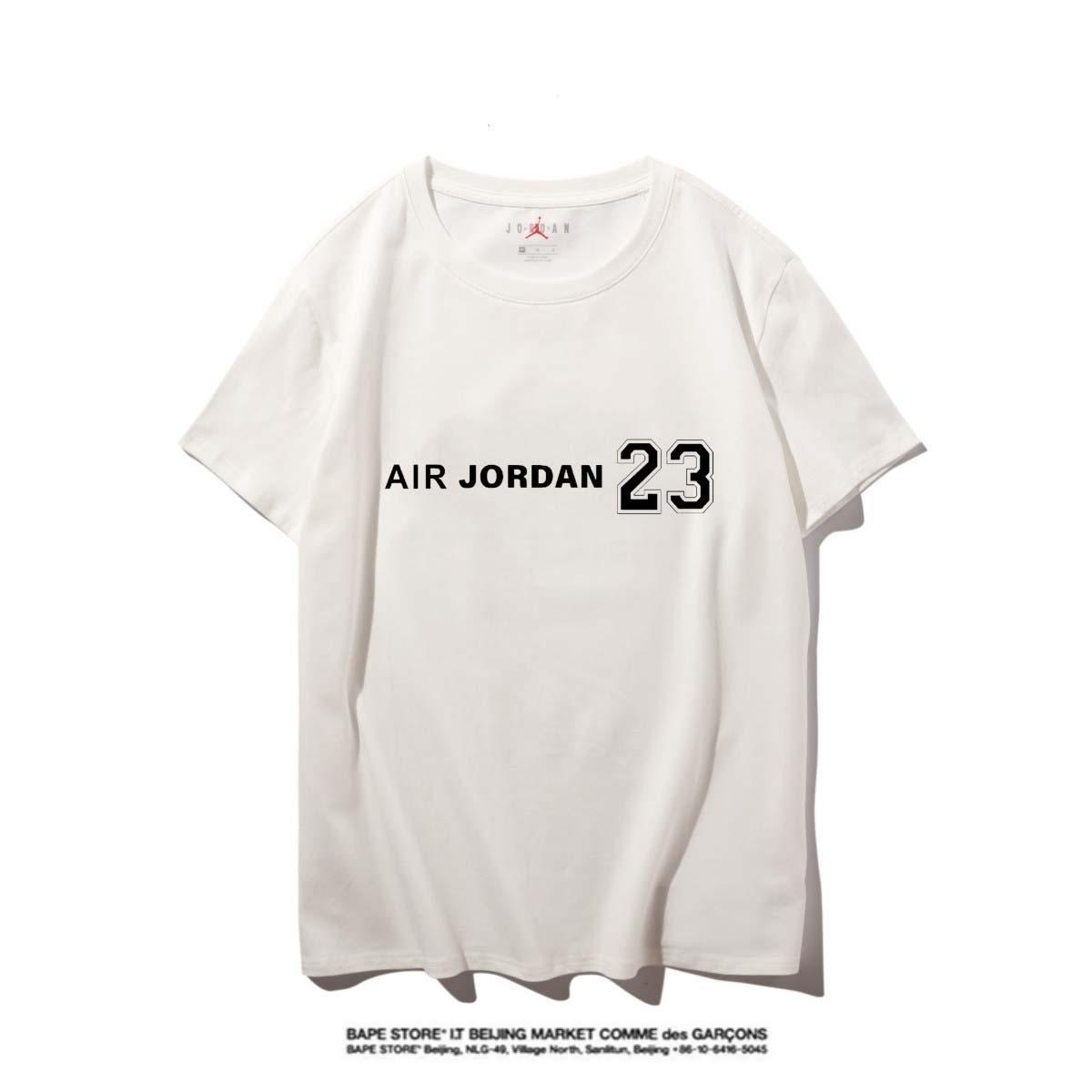 Jordan Hohe Qualität Neuer Brief Printing Short Sleeve Mode Aufmaß Cotton Hip Hop-Männer Frauen Paar Designer-T-Shirt S-XXL # 12123