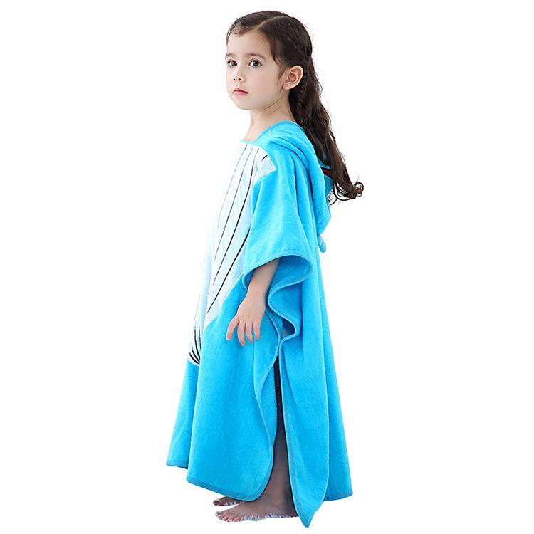 Çocuk Kazak Banyo Havlu Bebek% 100 Pamuk banyo havlusu Sevimli Stil Kapşonlu Plaj Havlusu Avrupa ve Amerikan Sıcak Satış Modeller