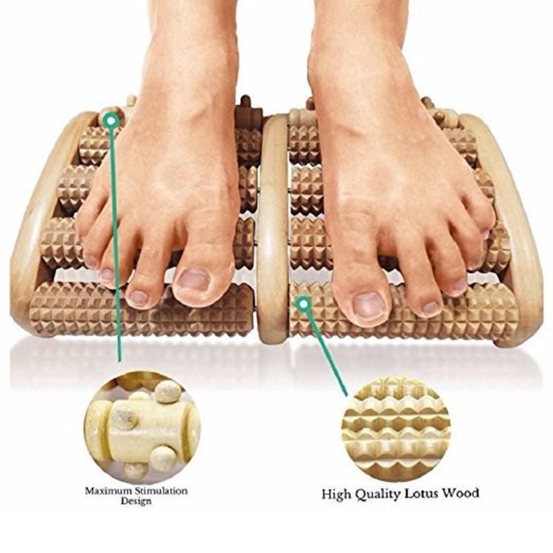 8 صف خشبي القدم مدلك الإجهاد خشبي تخفيف علاج الاسترخاء والتدليك الرول أداة تدليك الصحة