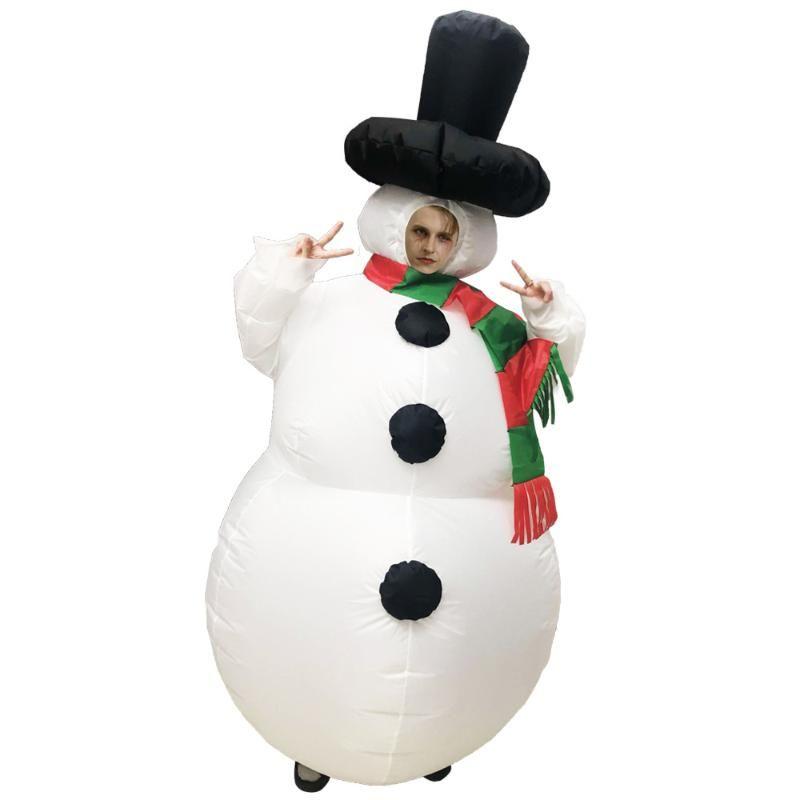 Enfants adultes bonhomme de neige gonflable Costumes de Noël plein corps gonflable Costume Pour Bar Party Parc Carnaval Cosplay
