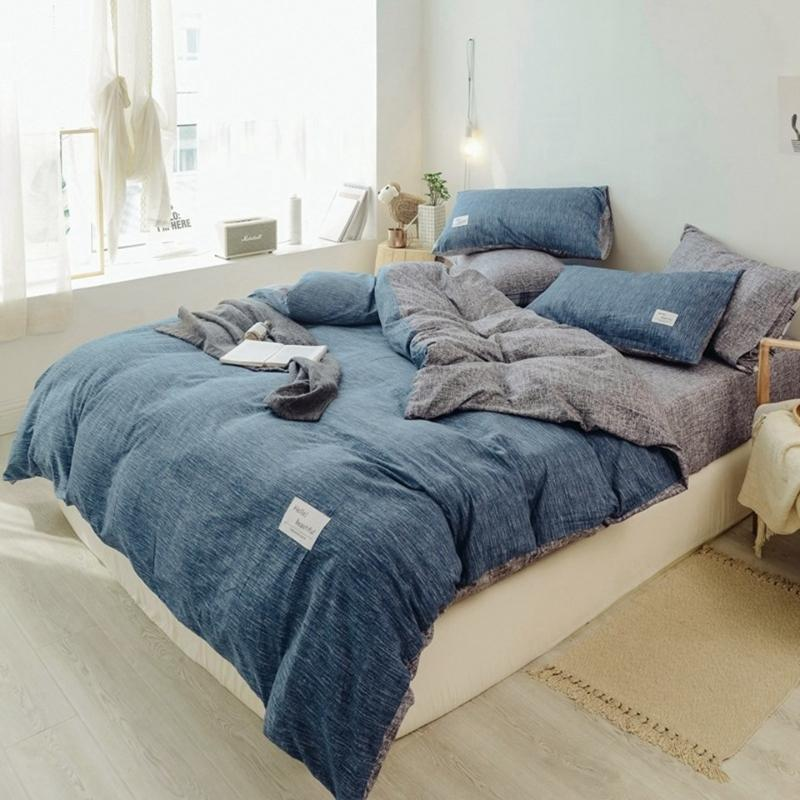4 pcs Beding set with 1pcs flat sheet 1 pcs duvet cover 2 pillowcase GX-44