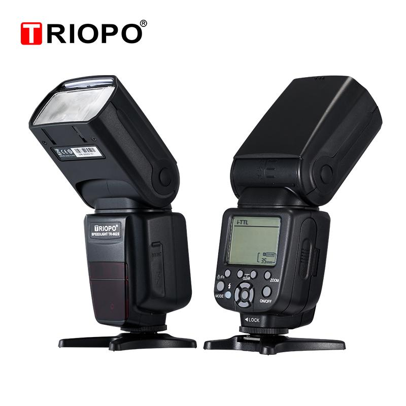 Modo Triopo TR-982III TR-982 III flash Speedlite HSS multi LCD sem fio mestre Slave Flash Light Para DSLR Camera