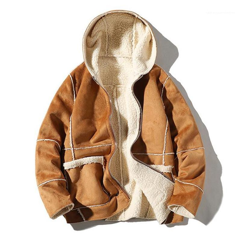 Sıcak Palto Casual Uzun Kollu Genç Erkek Ceket Erkek Tasarımcı Kış Ceket Moda Katı Lüks Kalın