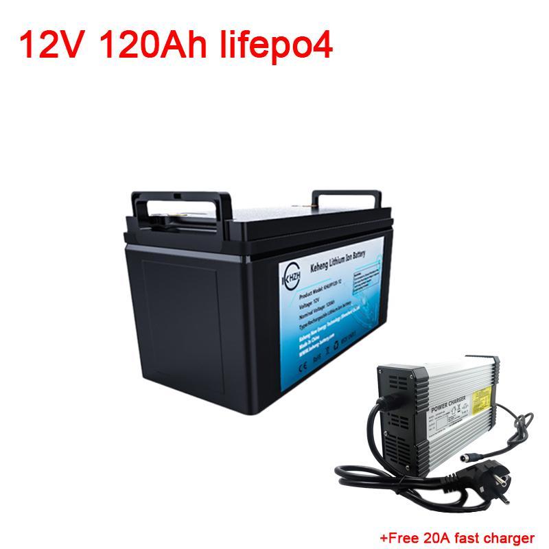 LiFePO4 Lityum Batarya 12V 120Ah ile BMS Sistemi LiFePO4 RV Pil Değişimi Kurşun Asit Akü + 20A şarj Mühürlü