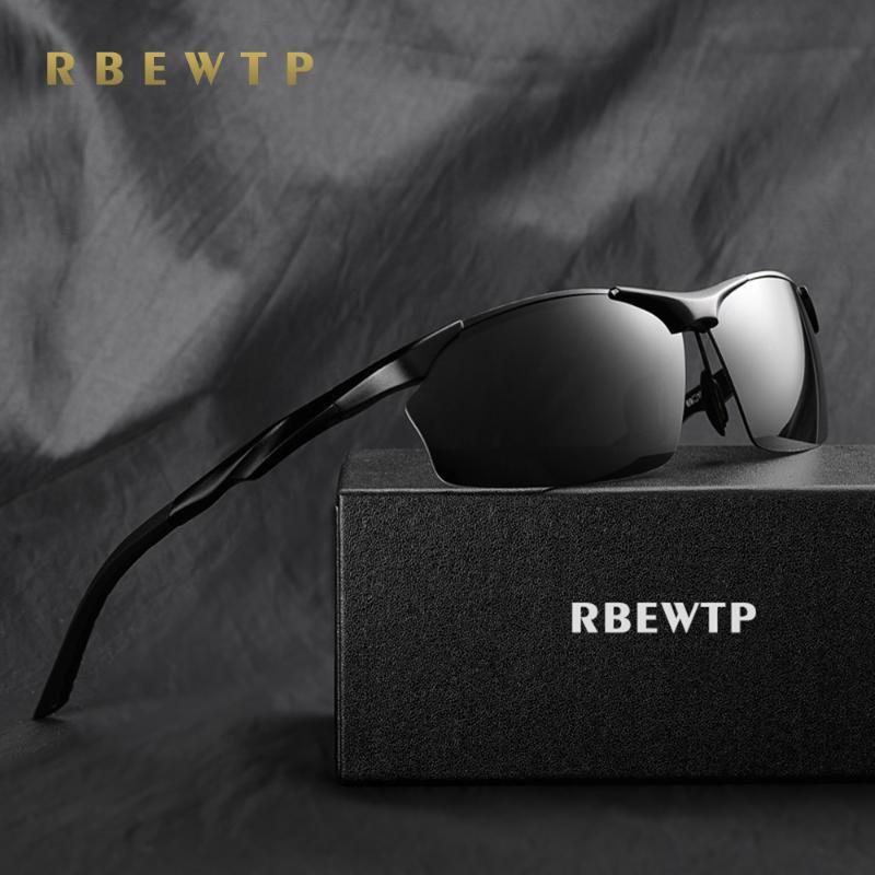 Aluminio polarizado Magnesio Gafas de sol sin montura RBEWTP Hombre Accesorios Masculinos Deporte para Sun Eyewear Oculos Lens Gafas Hombres KWCCF