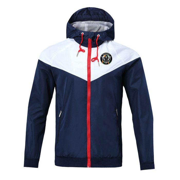 venezia FC 2020 camisola Hoodie Men Jacket Brasão manga comprida com logotipo Autumn Sports Zipper Windcheater Designer Mens Clothe