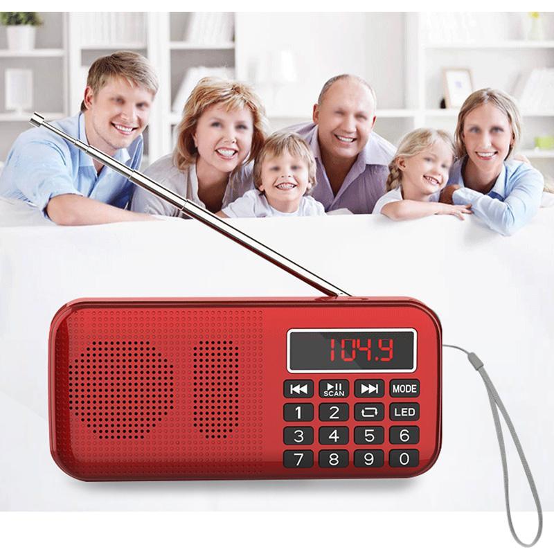L-558 MP3 Musique Haut-parleur portable Mini balayage automatique Radio FM avec slot TF carte à deux