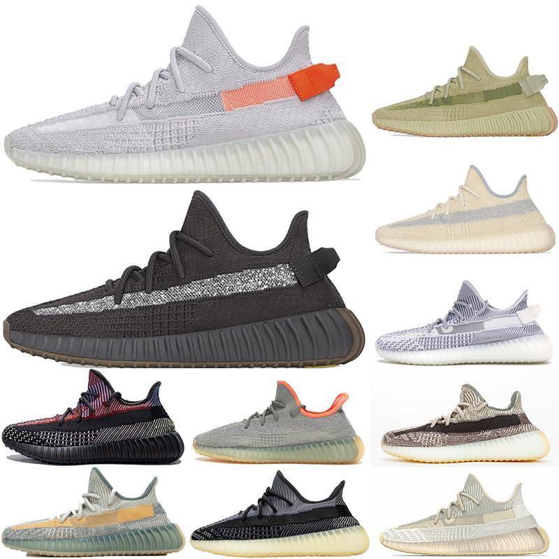 PK Quality 2020 Kanye West Men Donne Scarpe da corsa Designer Sneaker Sneaker Dissolvenza Glow Cinder Light Desert Desert Natural Black Carbon Riflective Shoe