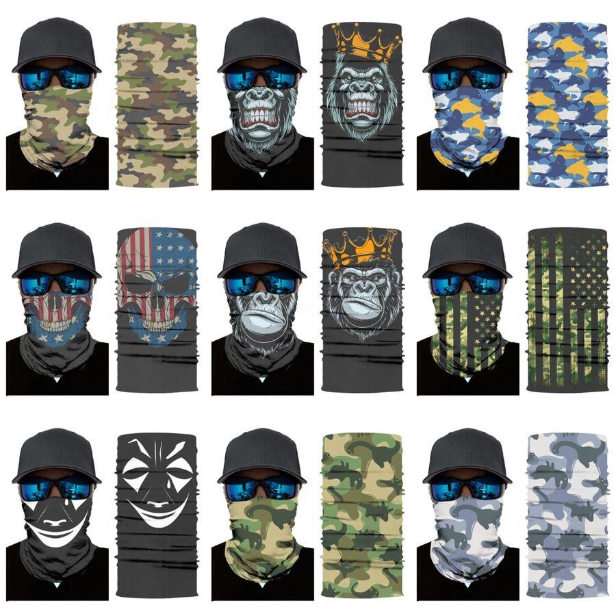 New Sternenhimmel Cycling Skull Schal drucken Haarreif Maske im Freien Gesichts-Schädel-Schal-Stirnband-Licht Breath Edc weiche magische Kopfbedeckung K95 # 49 # 129